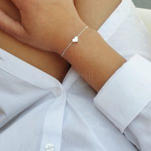 Hartje silver plated armband