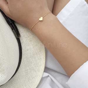 Small heart gold plated bracelet
