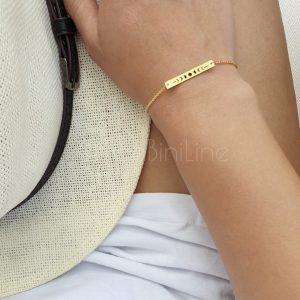 Moon bar gold plated bracelet