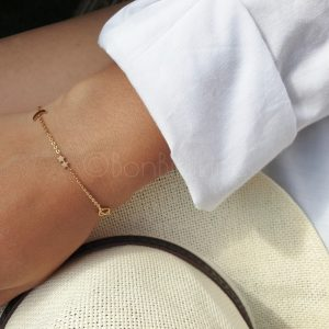 Universum gold plated armband