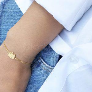 Elephant gold plated bracelet (laatste stuks)