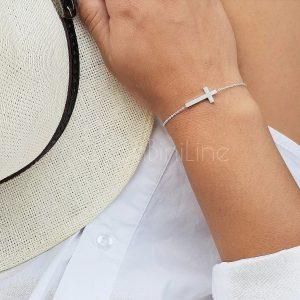 kruis armband zilver
