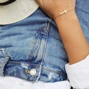 kruis armband goud
