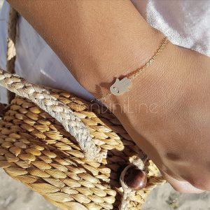 Armband goud dames hamsa hand bonbini line