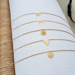 5-pack gold plated kettingen (€25,- combivoordeel)