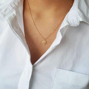 Klein handje gold plated ketting