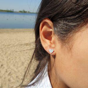Hartje silver plated oorbellen