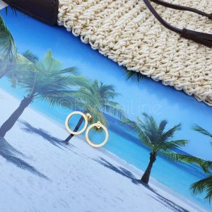 circle roségold plated earrings